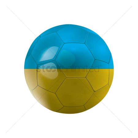 Ukraine : Soccer ball with ukraine flag