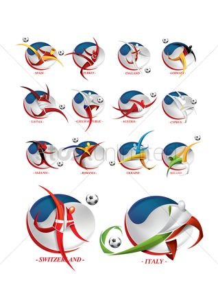 Ukraine : Soccer player logo elements