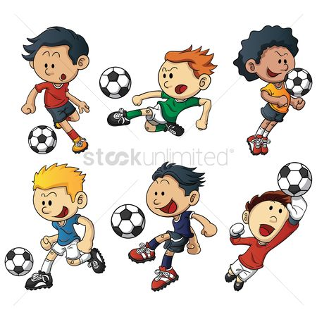 Football : Soccer players