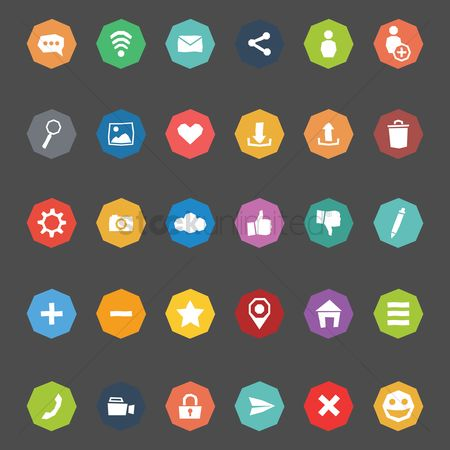 Photography : Social media icon collection