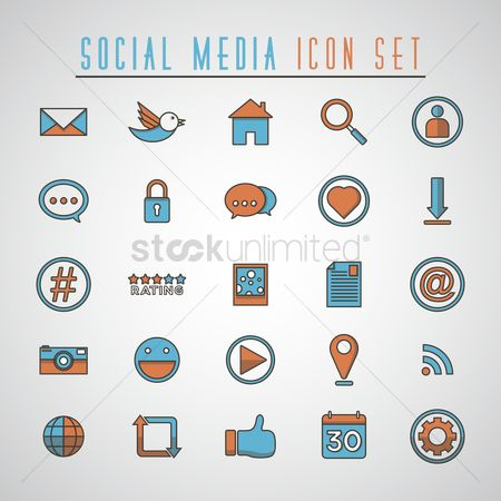 User interface : Social media icon set