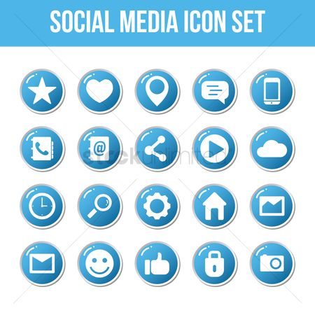Love speech bubble : Social media icon set