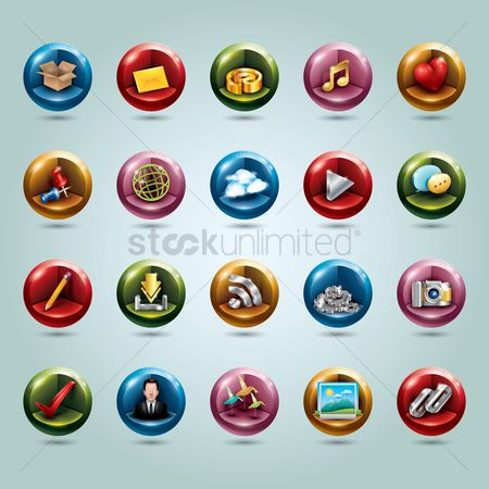 Heart shape : Social media icons