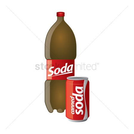 Sodas : Soda bottle and can