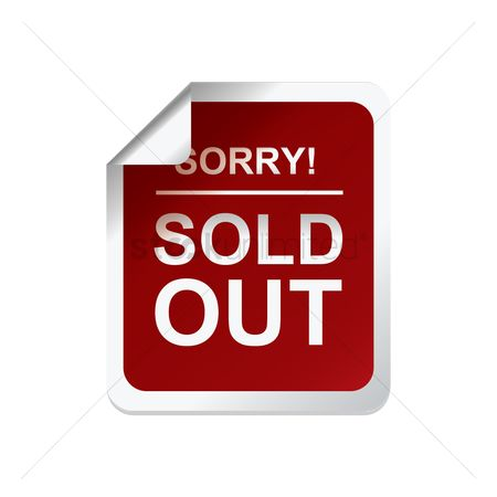 Sold : Sorry sold out label