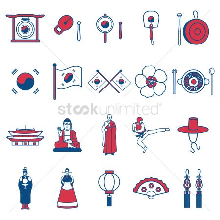 Traditions : South korean general icons