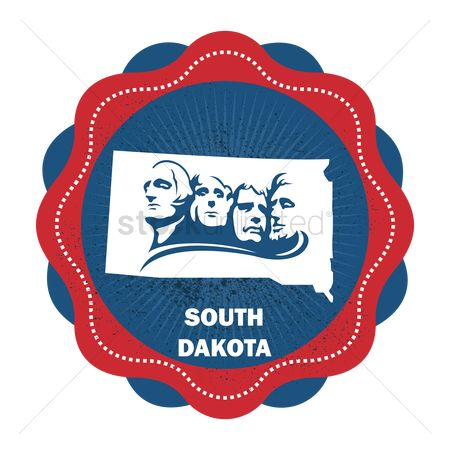 Dakota : Southth dakota state map
