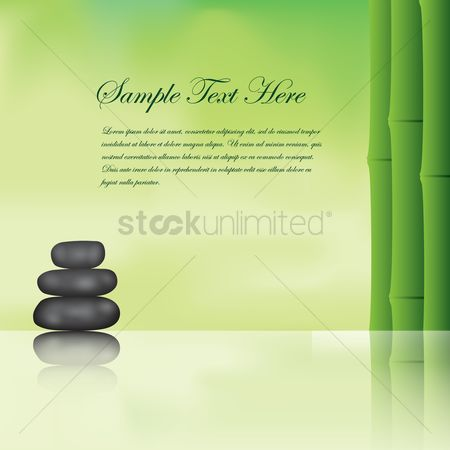 Zen : Spa background with bamboo and basalt stones