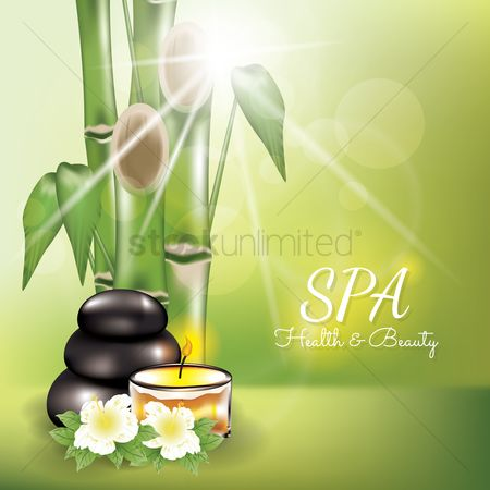 Starburst : Spa health and beauty background