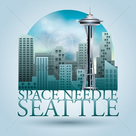 Needle : Space needle seattle poster