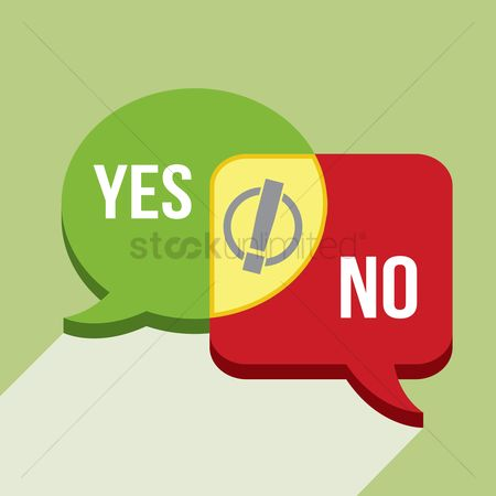 Chat bubbles : Speech bubble of yes and no