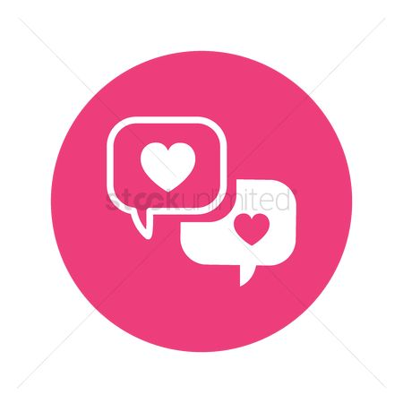Love speech bubble : Speech bubble with heart
