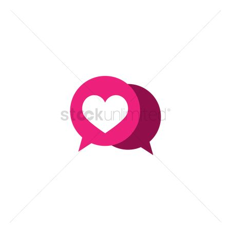 Love speech bubble : Speech bubbles