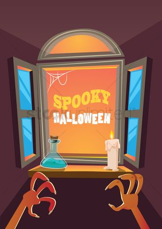 Indoor : Spooky halloween design