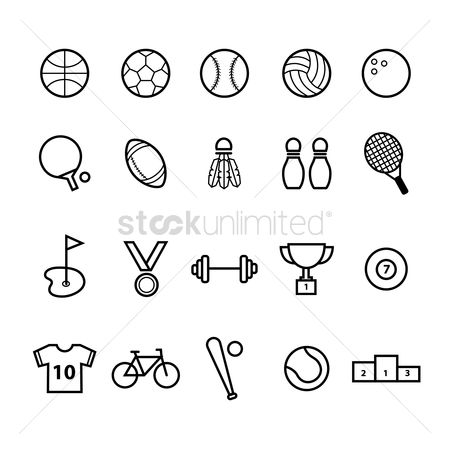 Paddle : Sports icon set