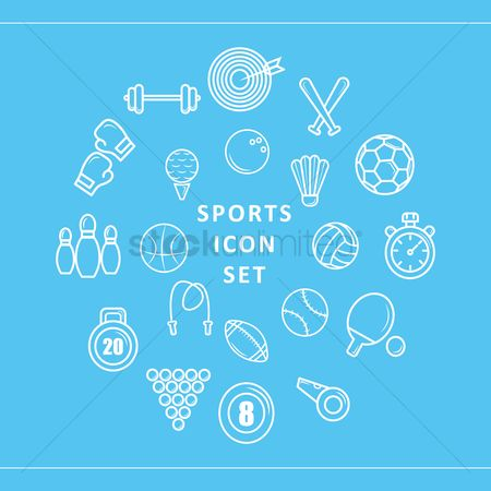 Baseball : Sports icon set