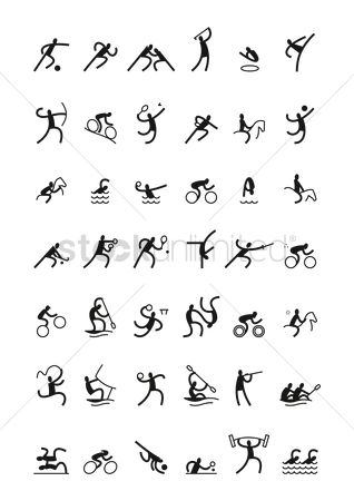 Athletes : Sports pictogram set