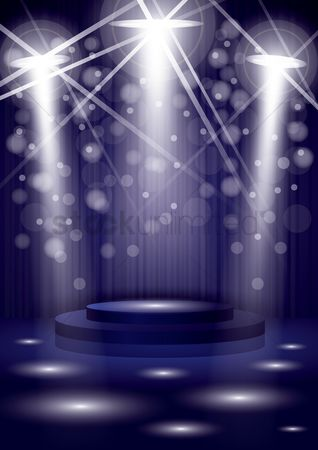 Musicals : Spotlights in a club