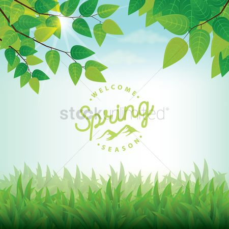 Sunray : Spring background