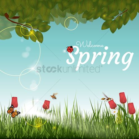 Fresh : Spring background