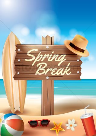 Starfishes : Spring break design