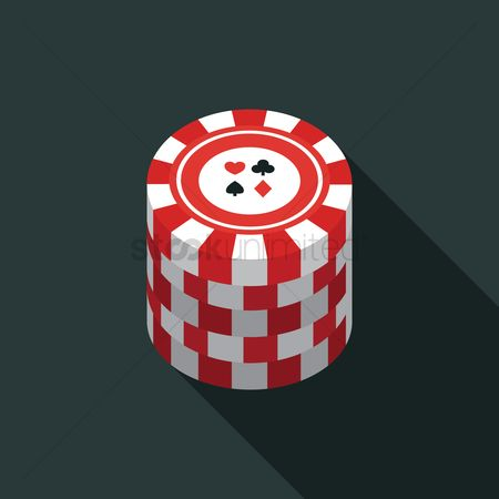 Poker chips : Stack of poker chips
