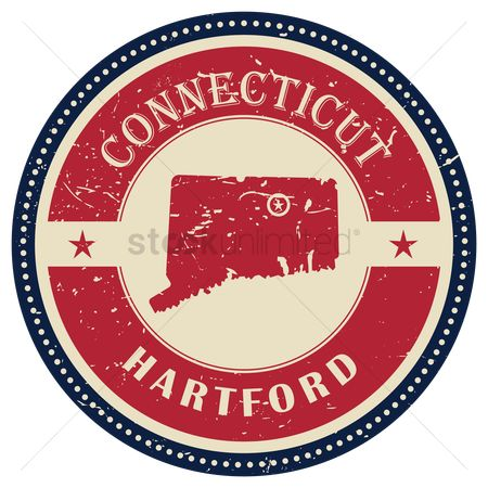 Connecticut : Stamp of connecticut state