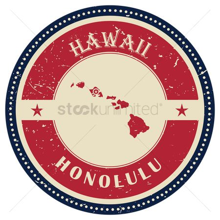 Capitals : Stamp of hawaii state