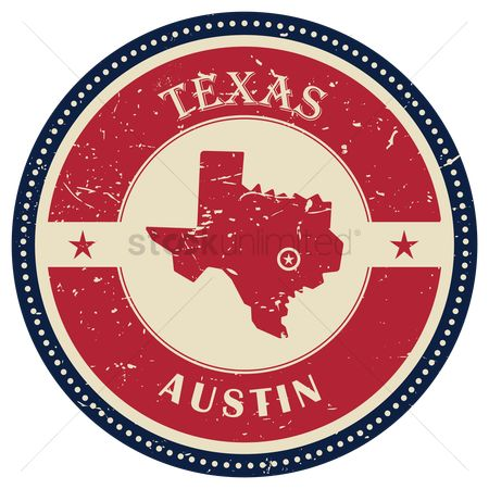 Us : Stamp of texas state