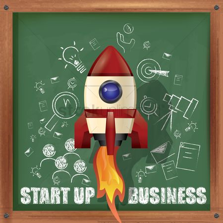 Blackboard : Start up business concept