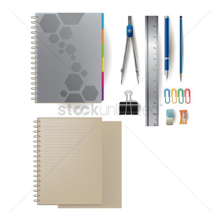 Delete : Stationery set with notebooks
