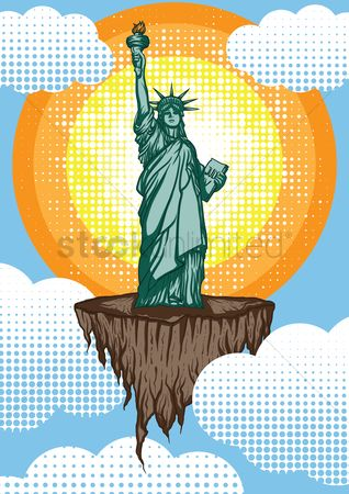 New york : Statue of liberty poster