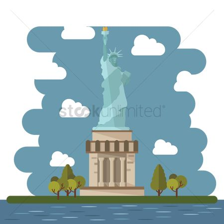 New york : Statue of liberty