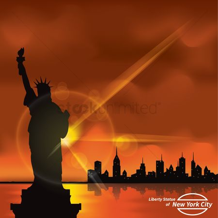 Sunray : Statue of liberty