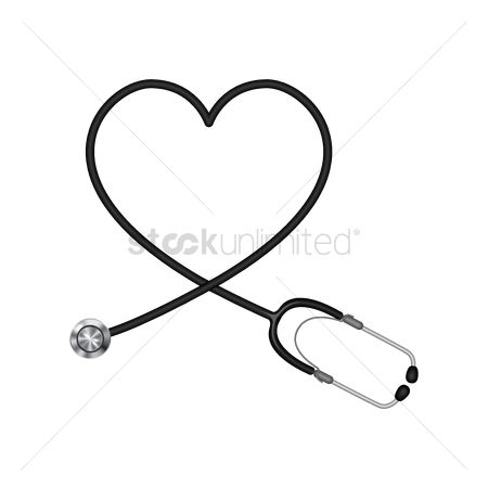 Clinicals : Stethoscope with heart shape
