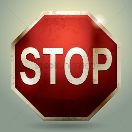 Warning : Stop sign