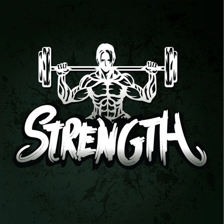 Health : Strength typography design