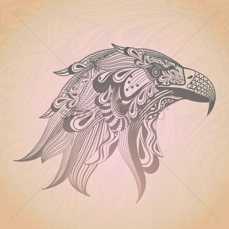 Head : Stylized eagle design