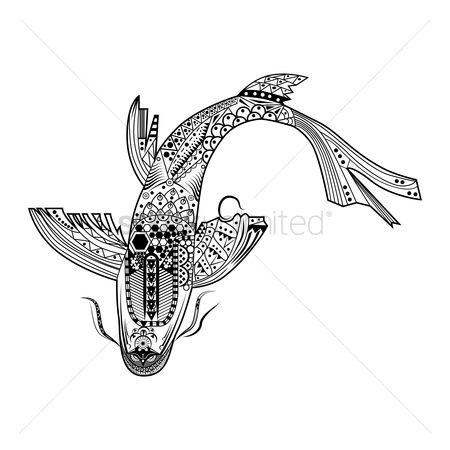 Marine life : Stylized fish design