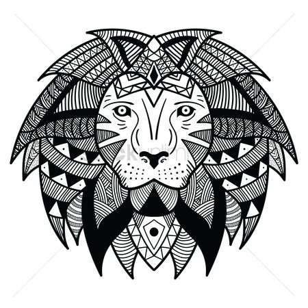 Patterns : Stylized lion design
