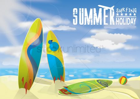 Surfboards : Summer holiday