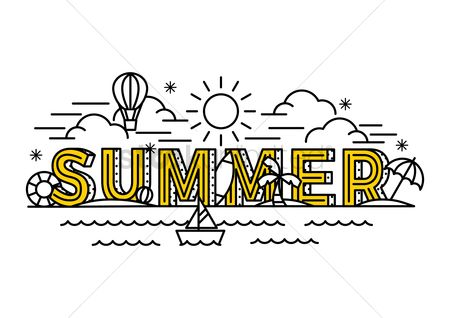 Yachting : Summer lettering design