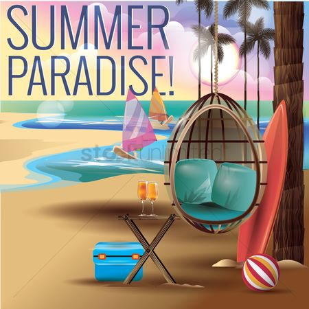 Boxes : Summer paradise design