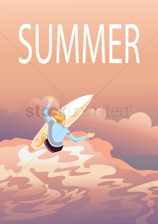 Fonts : Summer poster design