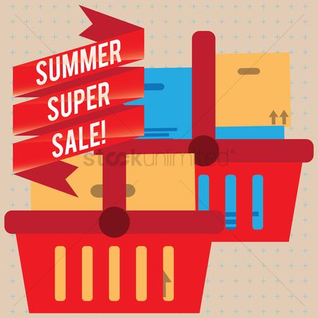 E commerces : Summer super sale banner