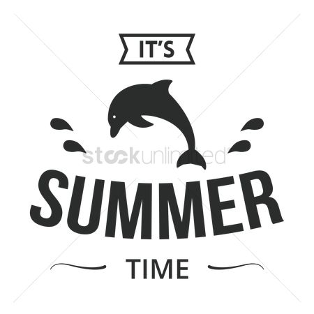 Dolphins : Summer time label