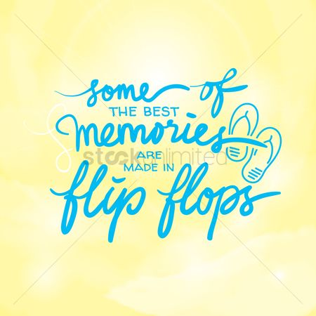 Slippers : Summer typography