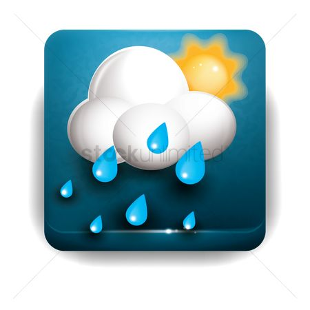 Temperatures : Sun cloud and rain