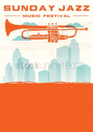 Brass : Sunday jazz music festival poster design