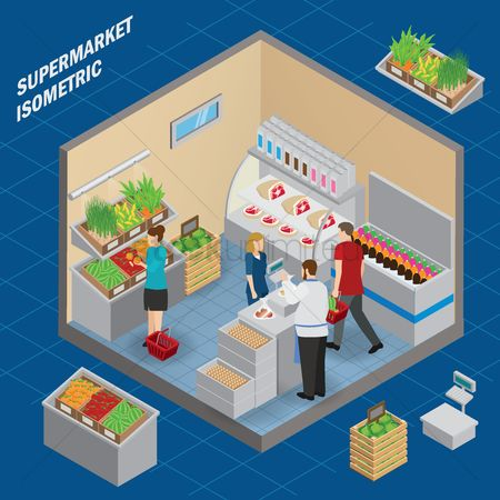 Weight : Supermarket isometric